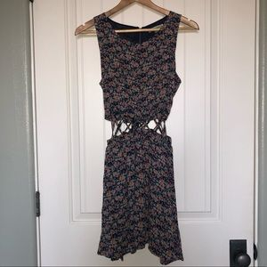 Lucca Couture Floral CutOut Dress Size Small